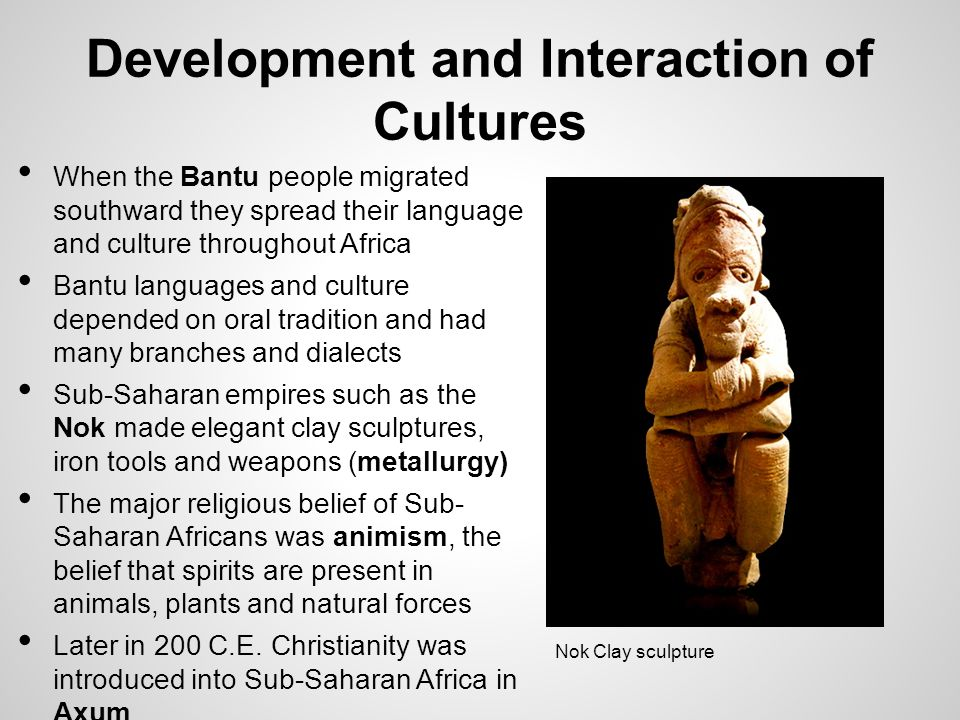 Development and Interaction of Cultures
