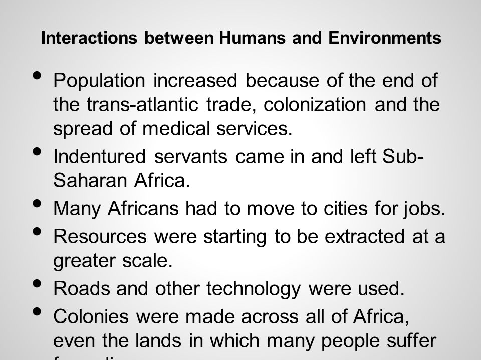 Interactions between Humans and Environments