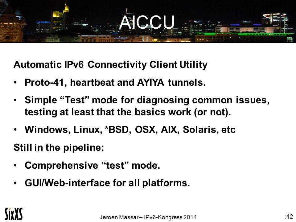 AICCU Automatic IPv6 Connectivity Client Utility