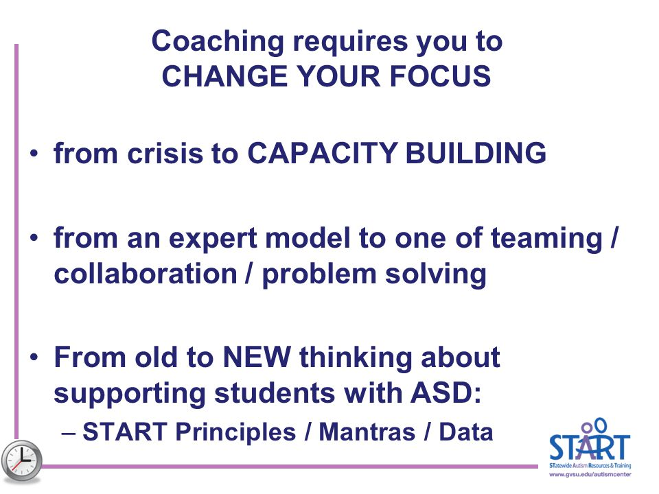 Coaching requires you to CHANGE YOUR FOCUS