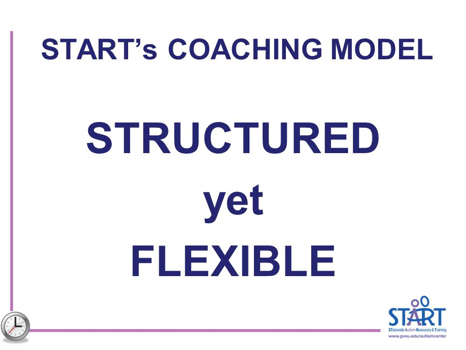 START's COACHING MODEL