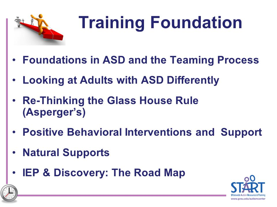 Training Foundation Foundations in ASD and the Teaming Process