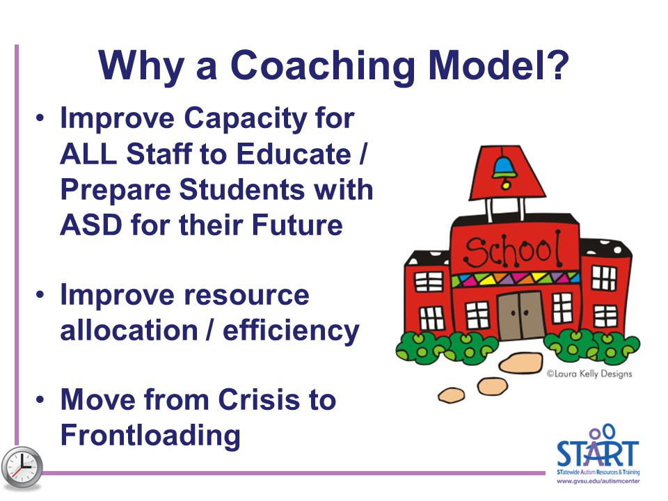 Why a Coaching Model Improve Capacity for ALL Staff to Educate / Prepare Students with ASD for their Future.