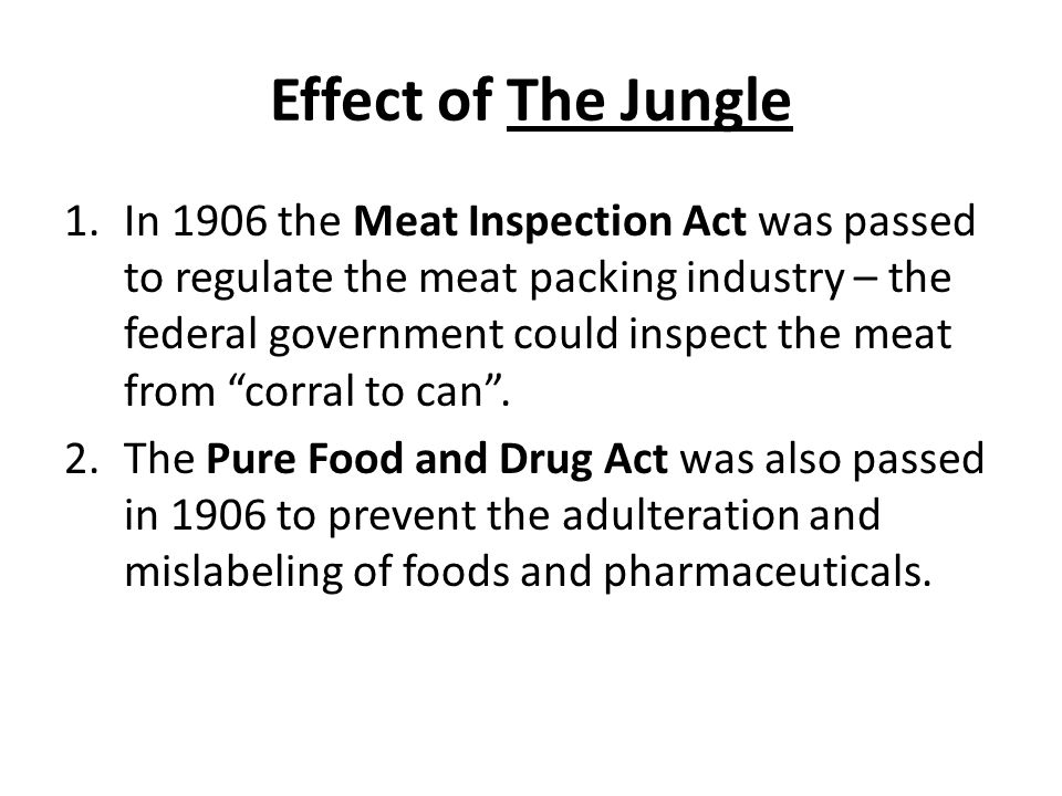 Effect of The Jungle