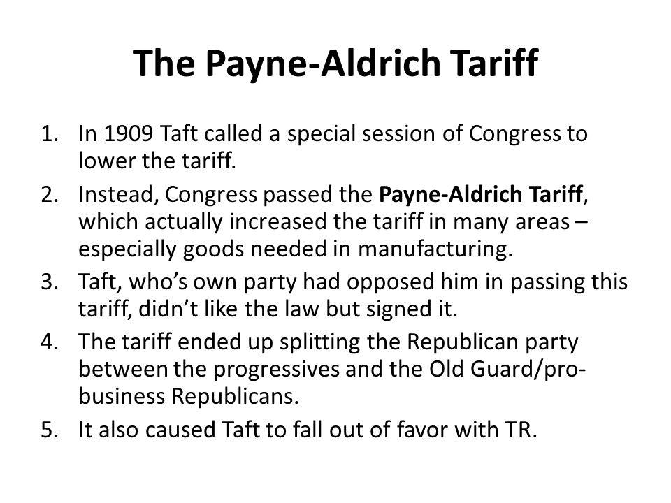 The Payne-Aldrich Tariff