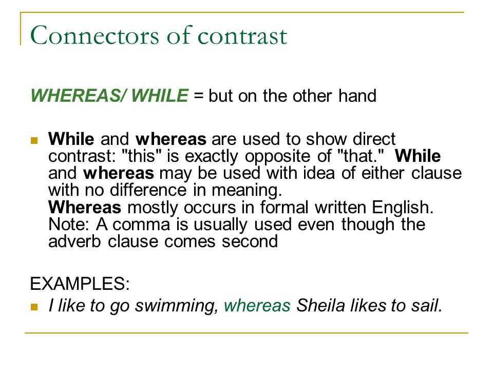 Connectors of contrast