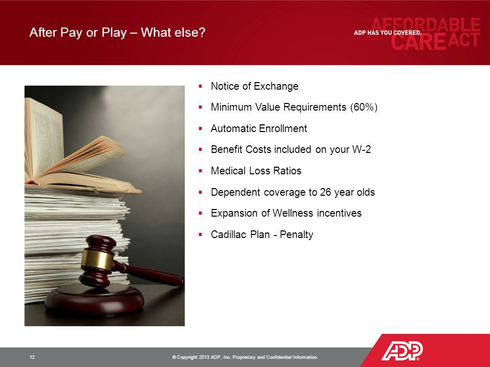 After Pay or Play – What else