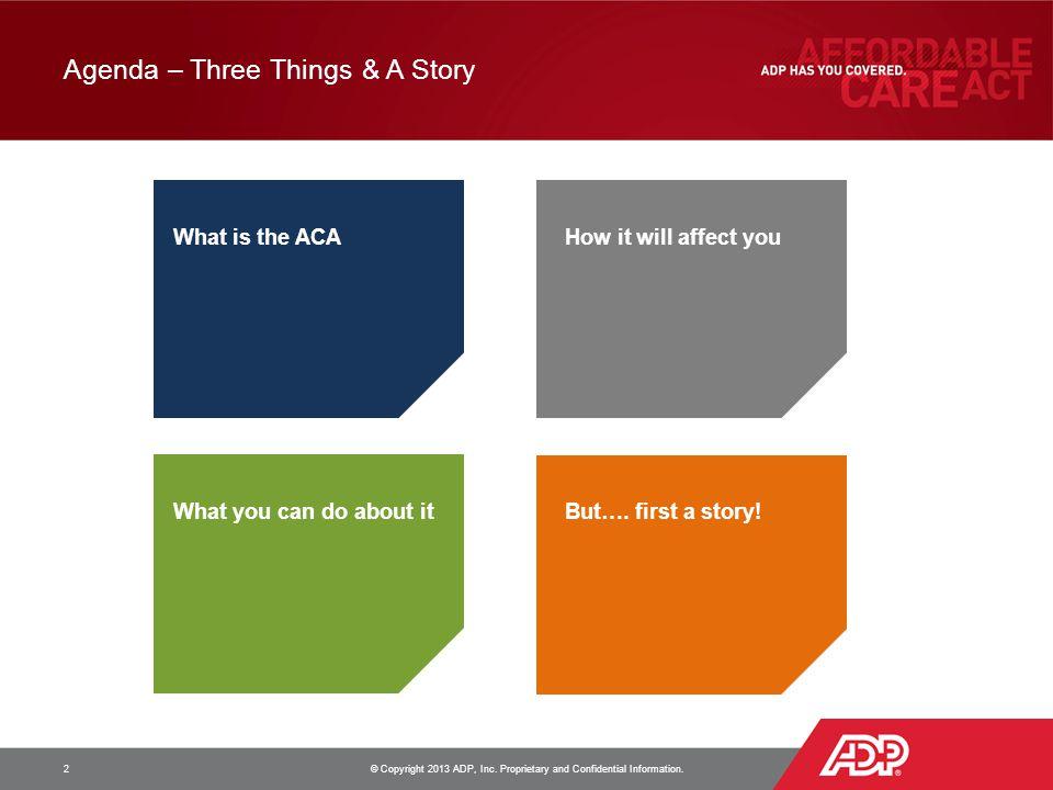 Agenda – Three Things & A Story