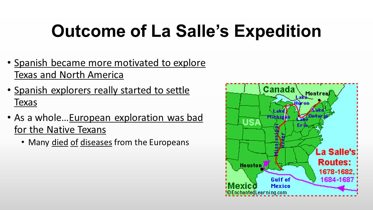 Outcome of La Salle's Expedition