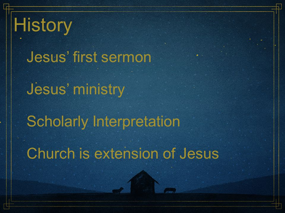 History Jesus' first sermon Jesus' ministry Scholarly Interpretation