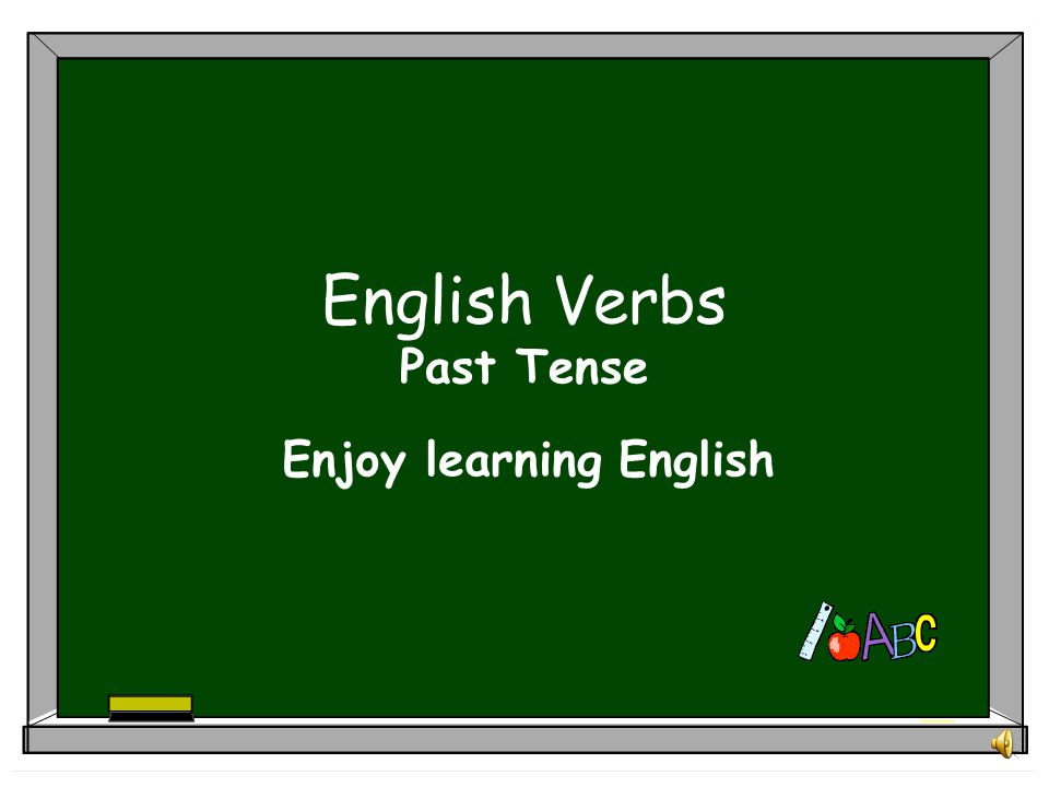 English Verbs Past Tense
