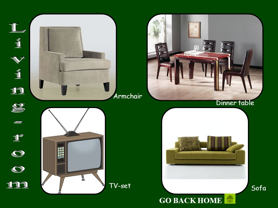 Armchair Living-room Dinner table TV-set Sofa GO BACK HOME