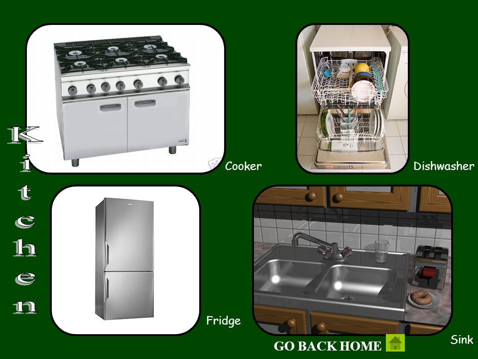 Cooker Fridge Sink Dishwasher Kitchen GO BACK HOME