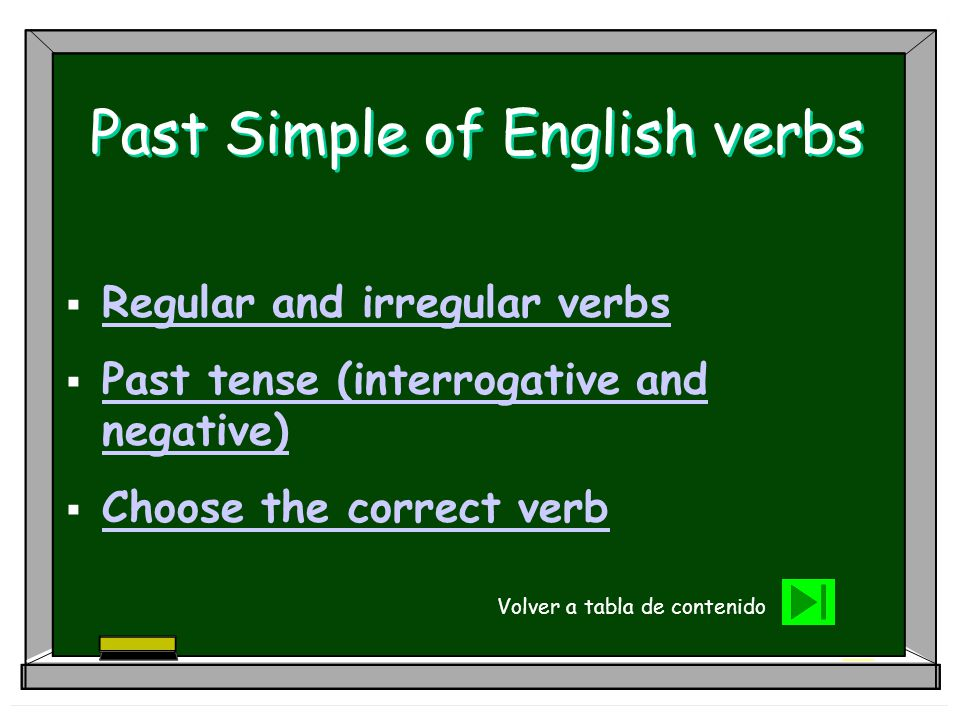 Past Simple of English verbs