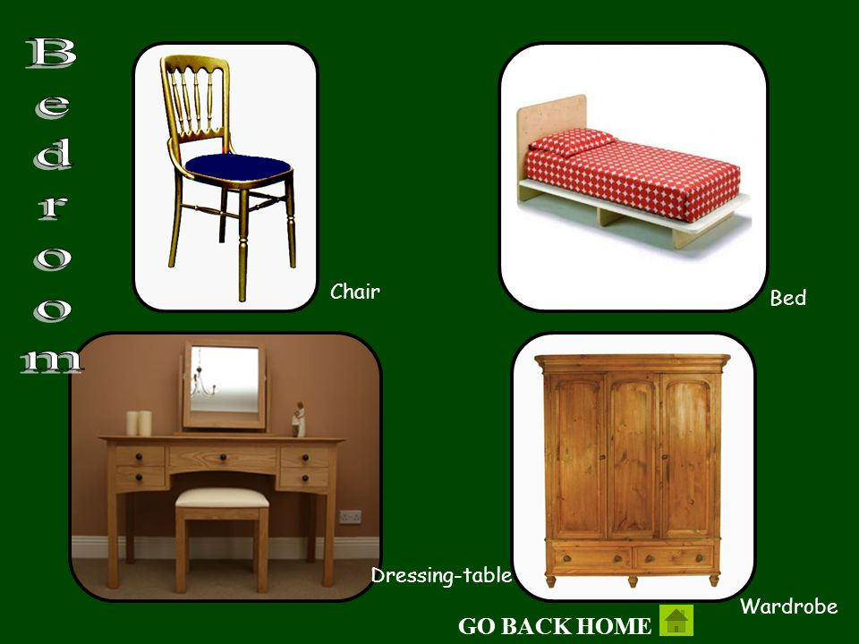 Bedroom Chair Bed Dressing-table Wardrobe GO BACK HOME