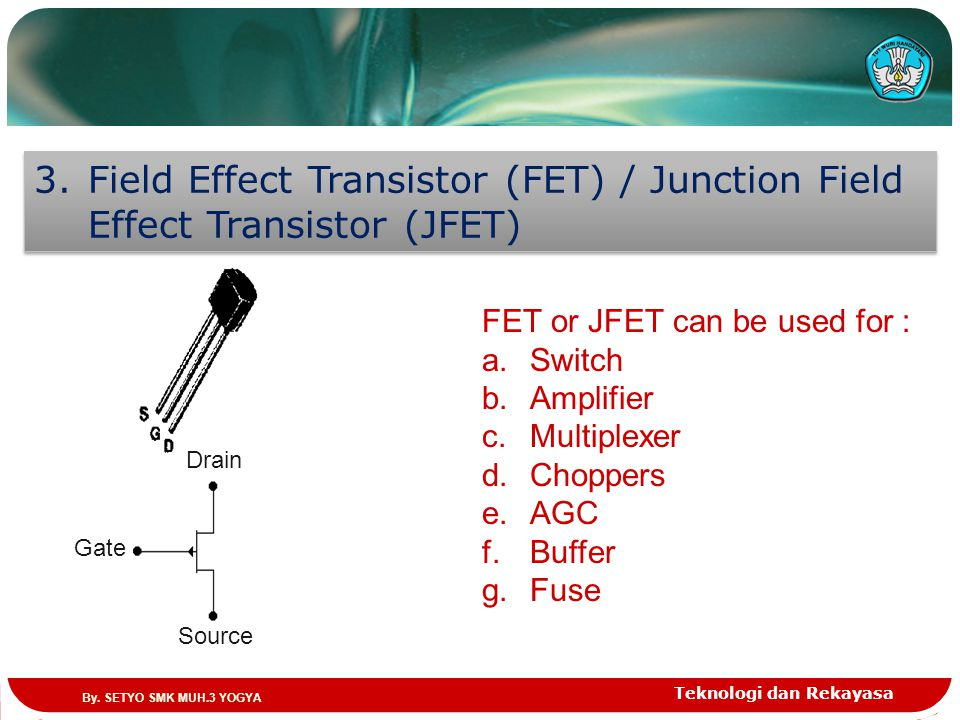 Field Effect Transistor (FET) / Junction Field Effect Transistor (JFET)
