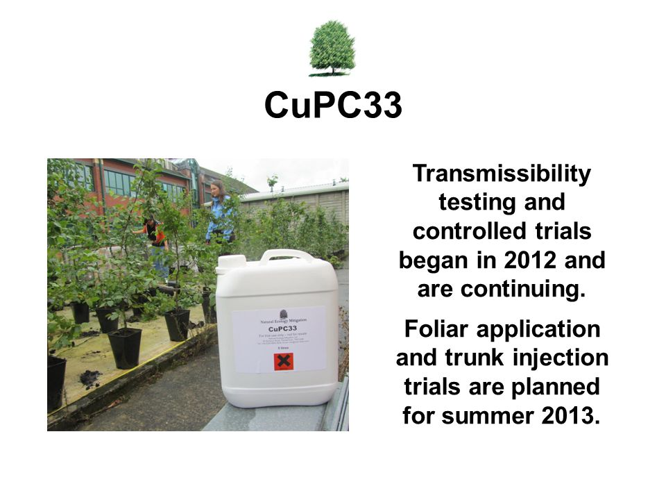 CuPC33 Transmissibility testing and