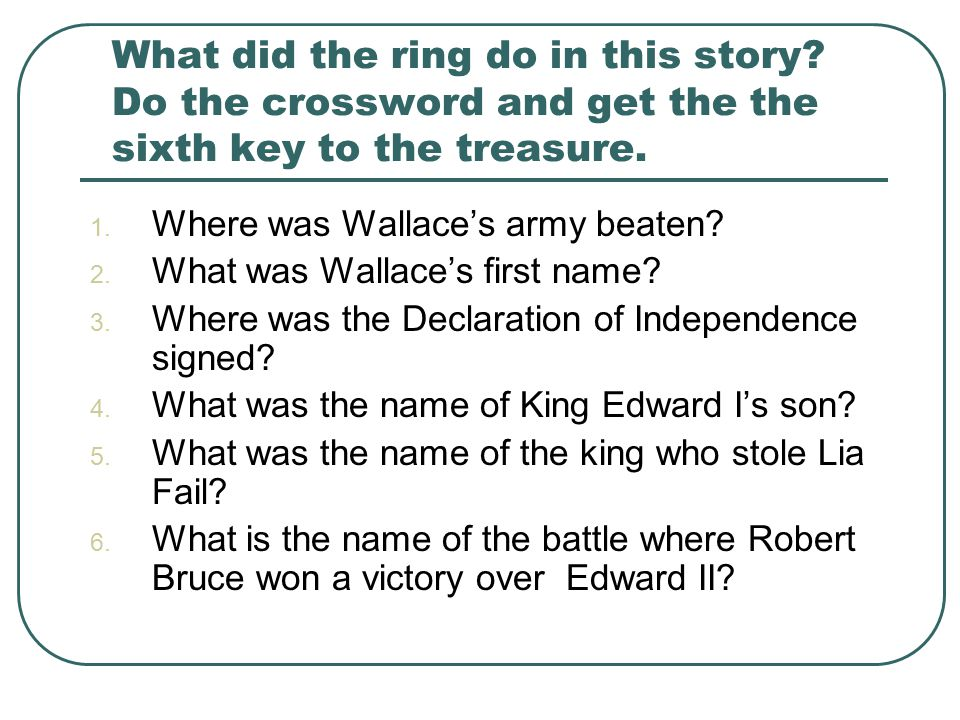 What did the ring do in this story