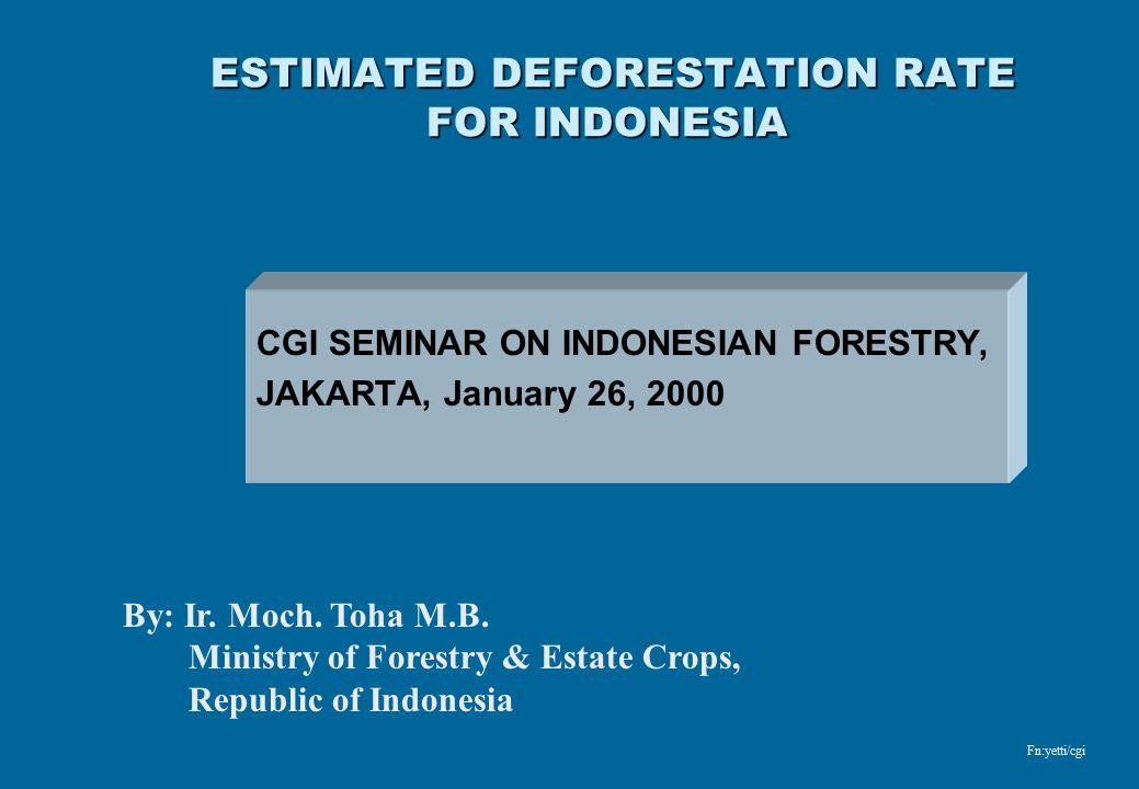 ESTIMATED DEFORESTATION RATE FOR INDONESIA