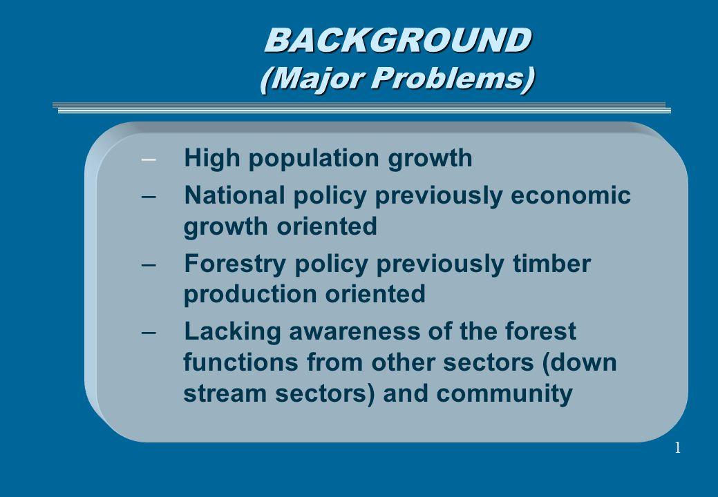 BACKGROUND (Major Problems)