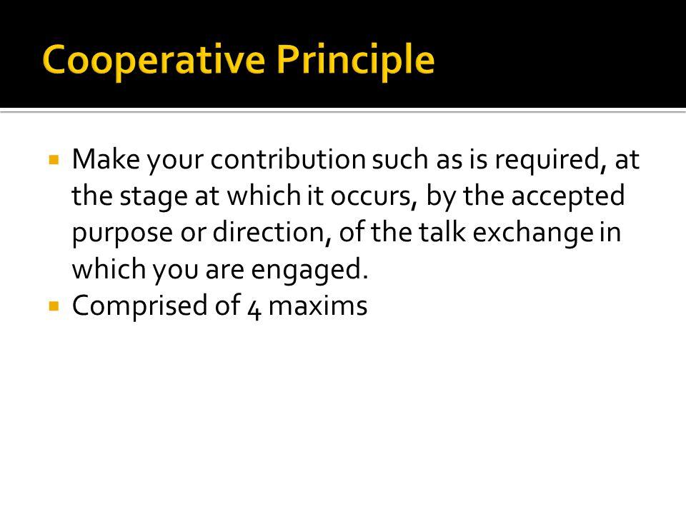 Cooperative Principle