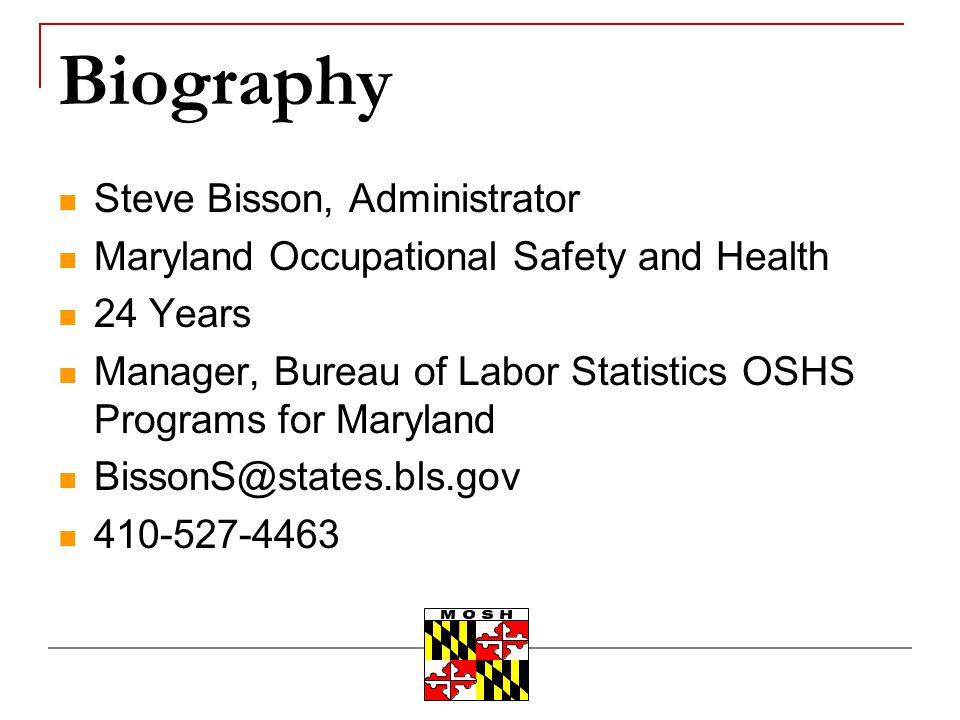 Biography Steve Bisson, Administrator