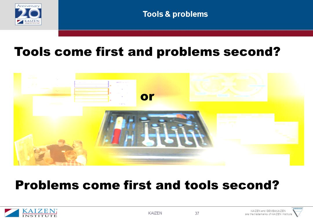 Tools come first and problems second