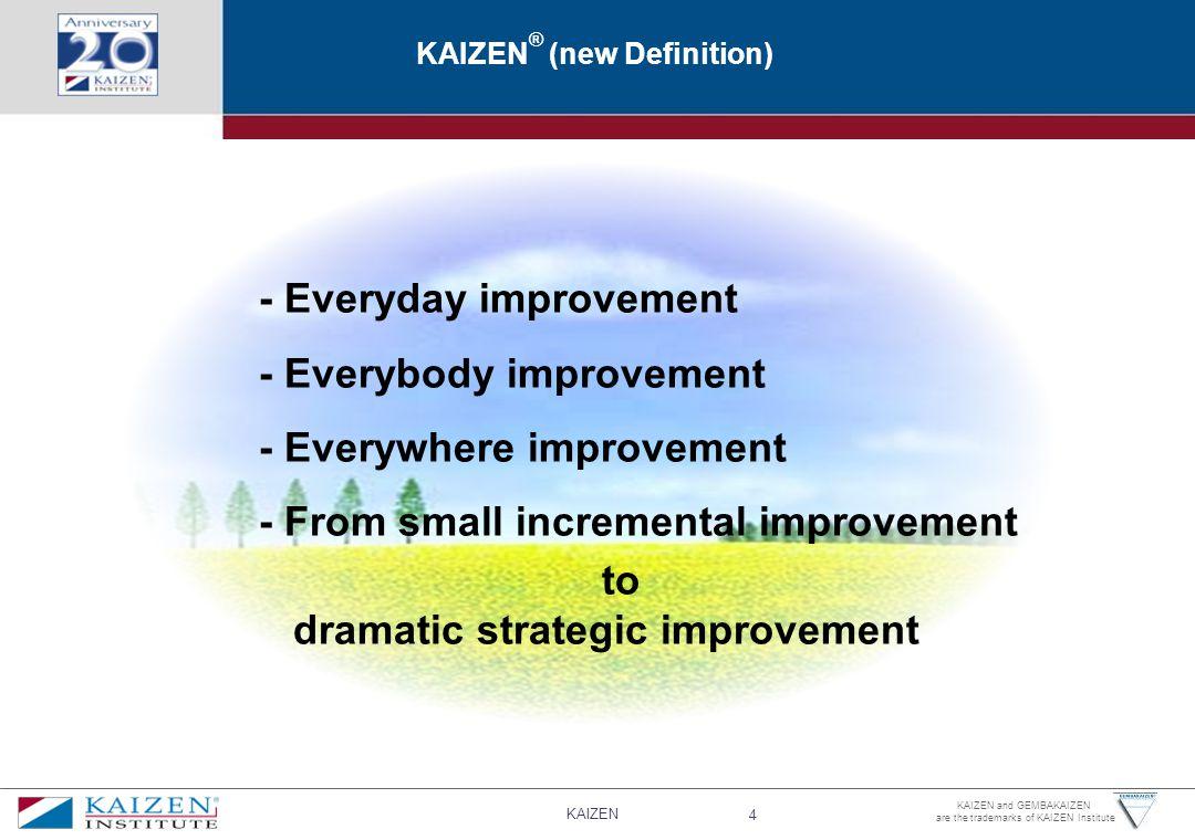 KAIZEN® (new Definition)