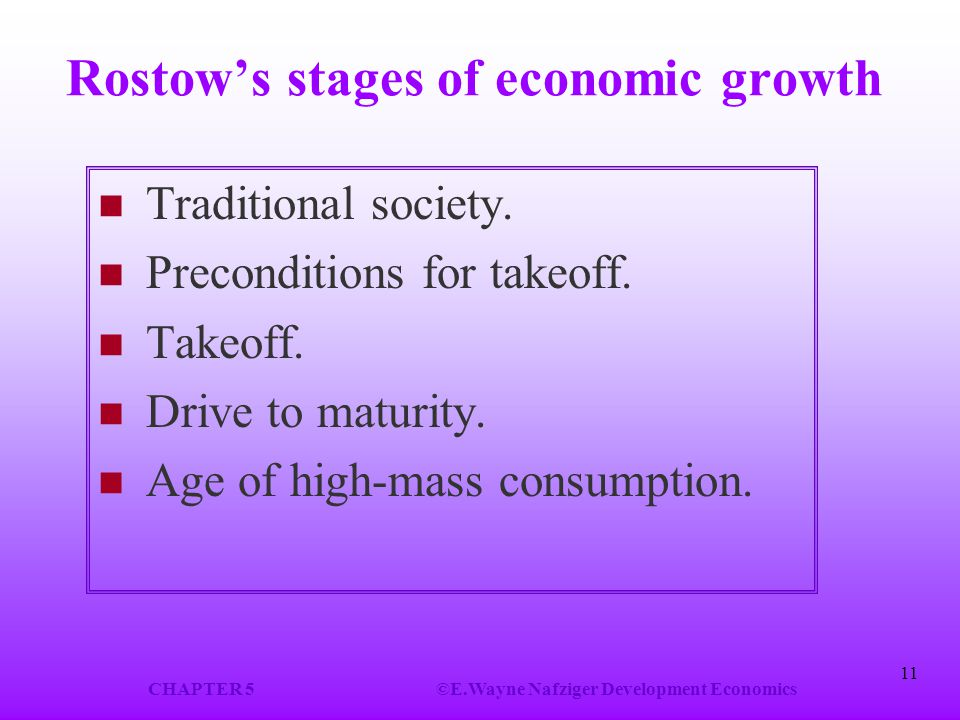 Rostow's stages of economic growth