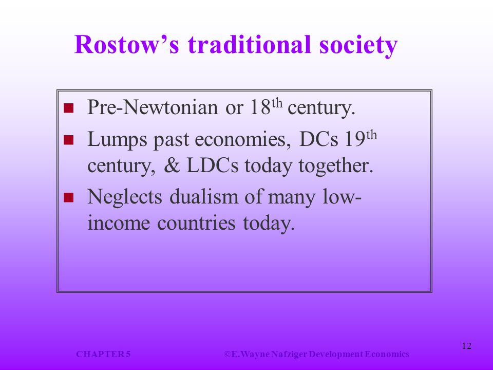 Rostow's traditional society