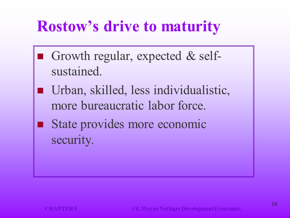 Rostow's drive to maturity