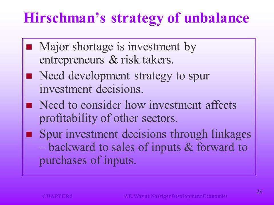 Hirschman's strategy of unbalance