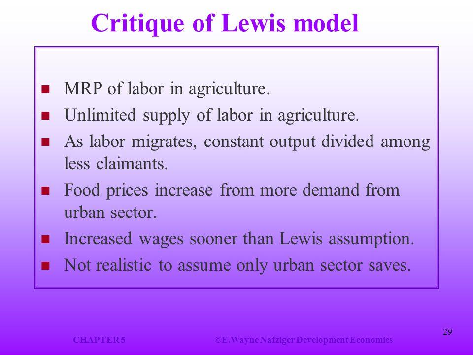 Critique of Lewis model