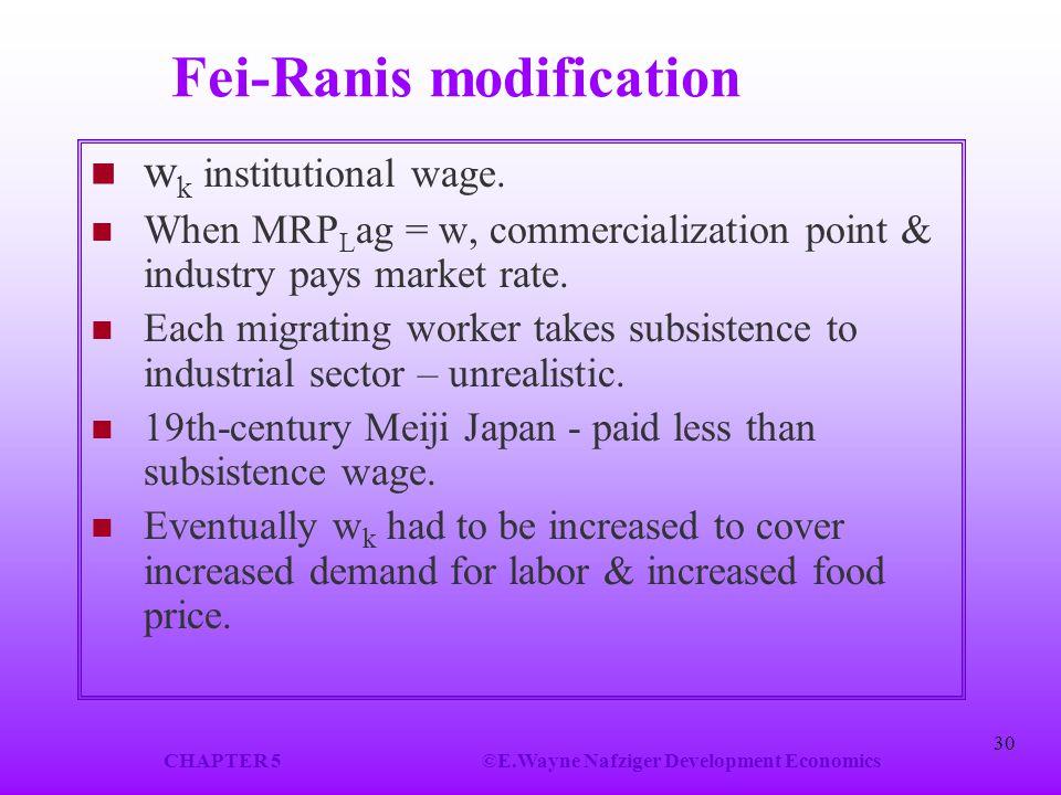 Fei-Ranis modification