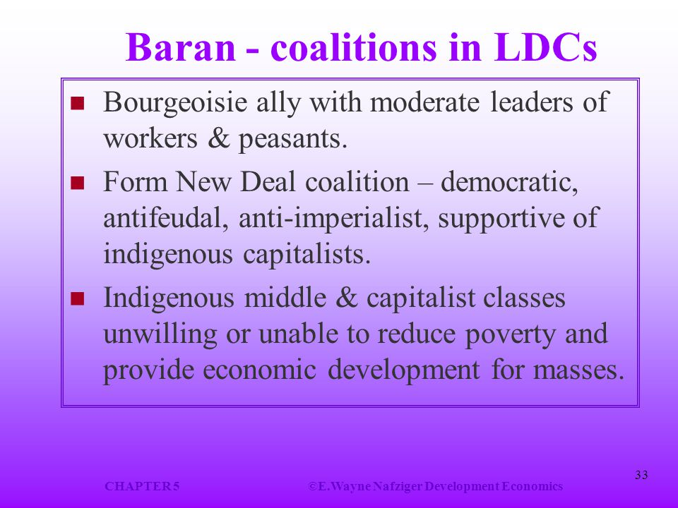 Baran - coalitions in LDCs