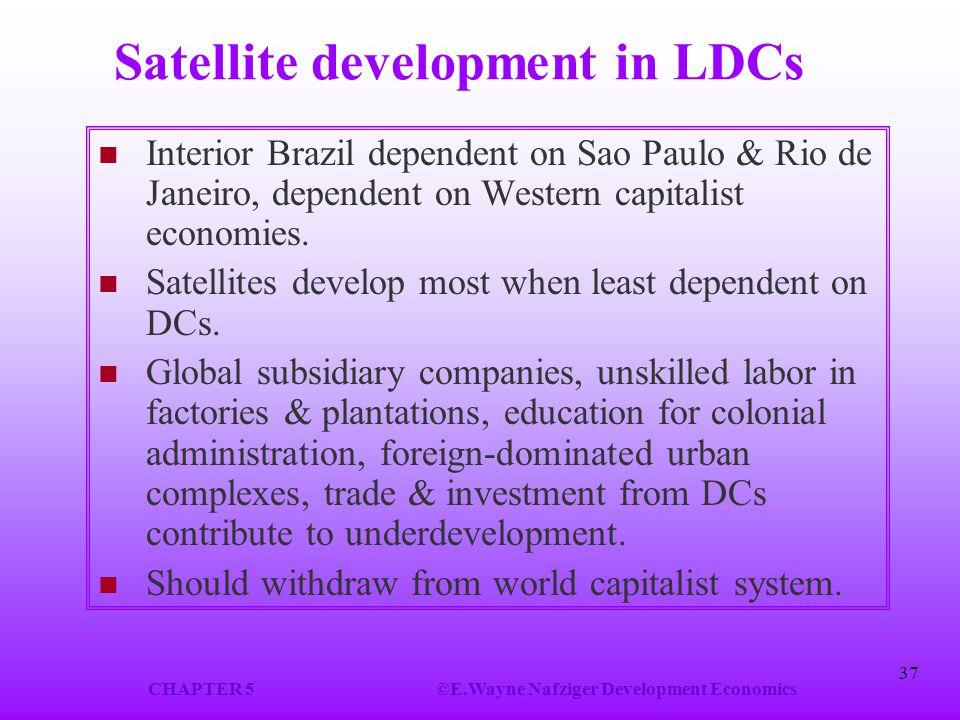 Satellite development in LDCs