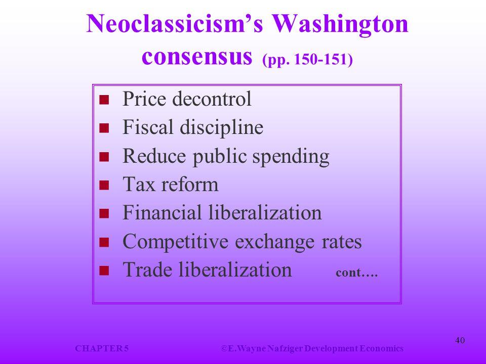Neoclassicism's Washington consensus (pp. 150-151)