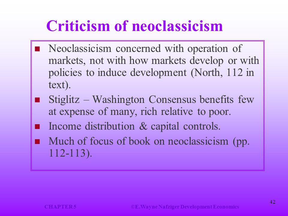 Criticism of neoclassicism