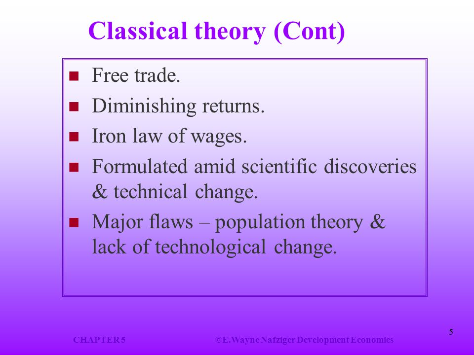 Classical theory (Cont)
