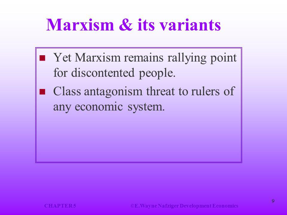 CHAPTER 5 ©E.Wayne Nafziger Development Economics
