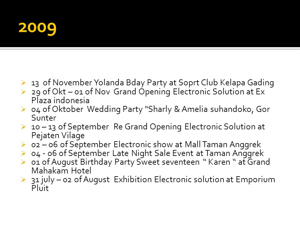 2009 13 of November Yolanda Bday Party at Soprt Club Kelapa Gading