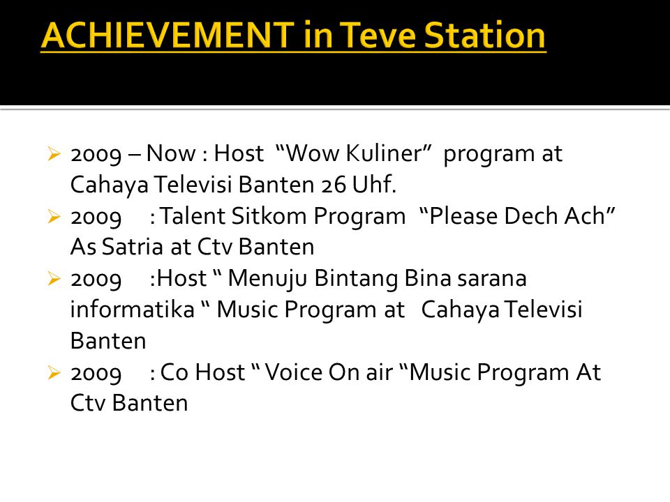 ACHIEVEMENT in Teve Station