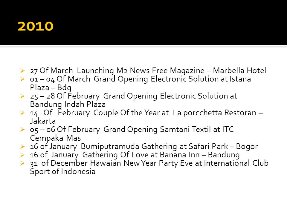 2010 27 Of March Launching M2 News Free Magazine – Marbella Hotel