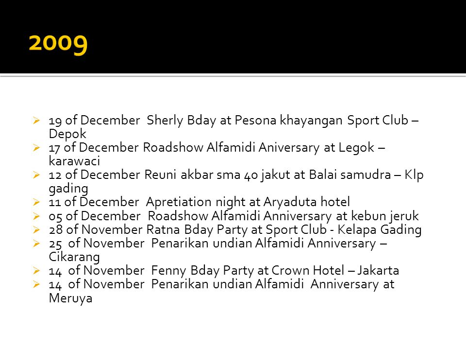 2009 19 of December Sherly Bday at Pesona khayangan Sport Club – Depok