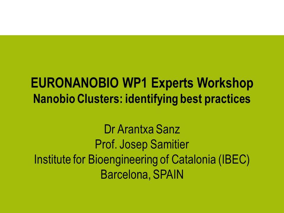 EURONANOBIO WP1 Experts Workshop