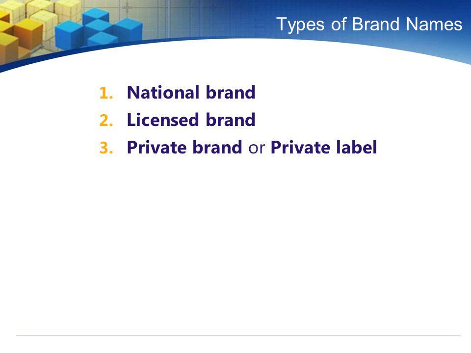 Private brand or Private label