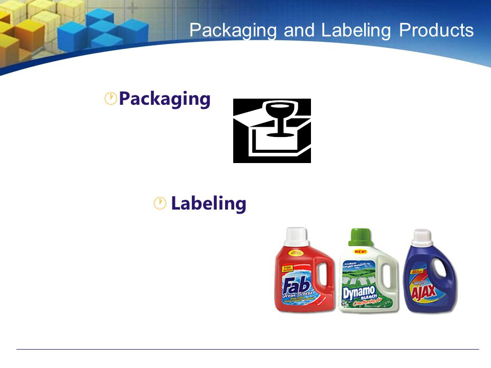Packaging and Labeling Products