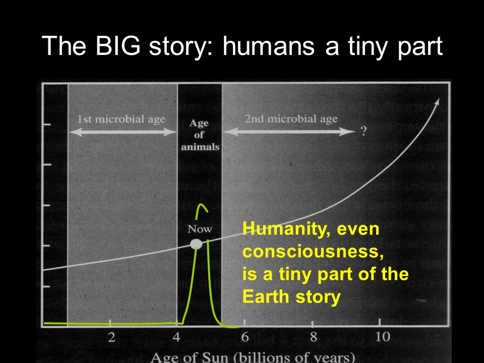 The BIG story: humans a tiny part