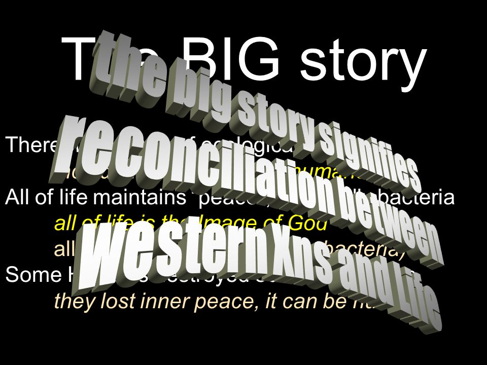 the big story signifies reconciliation between
