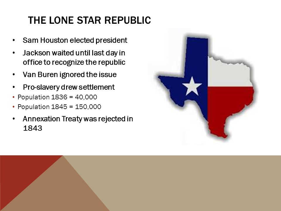 The Lone Star Republic Sam Houston elected president